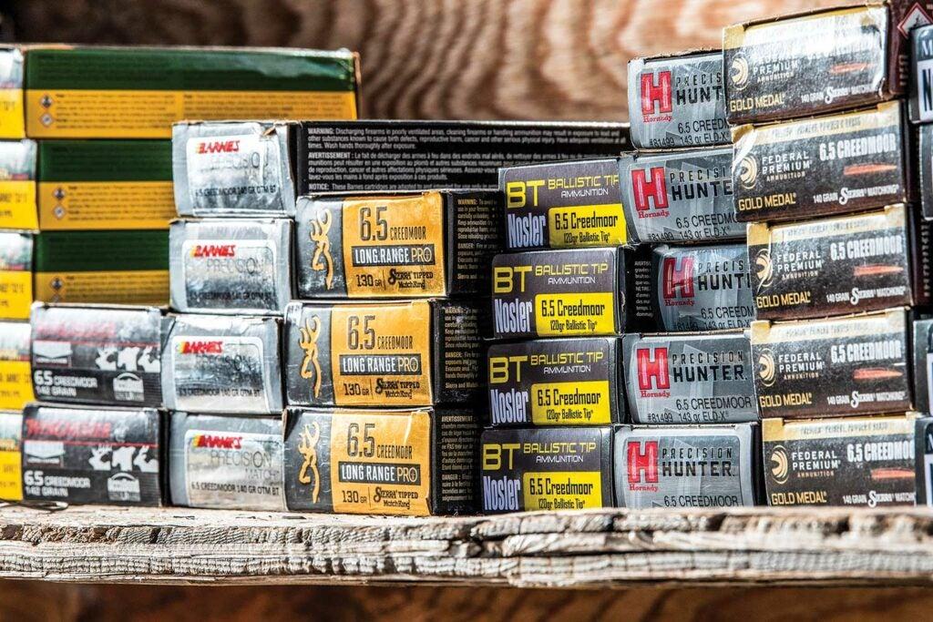 boxes of 6.5 creedmoor ammo