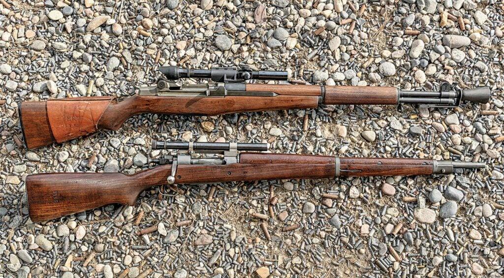 Garand M1D and Springfield 1903A4 Gibbs