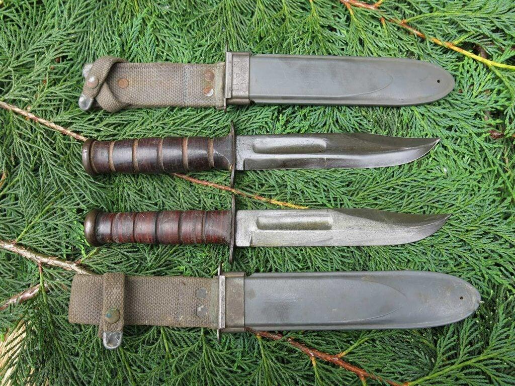two kabar usn mkii knives