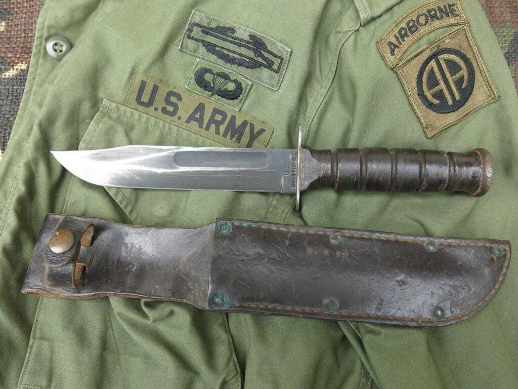an antique vietnam camillus vietnam combat knife