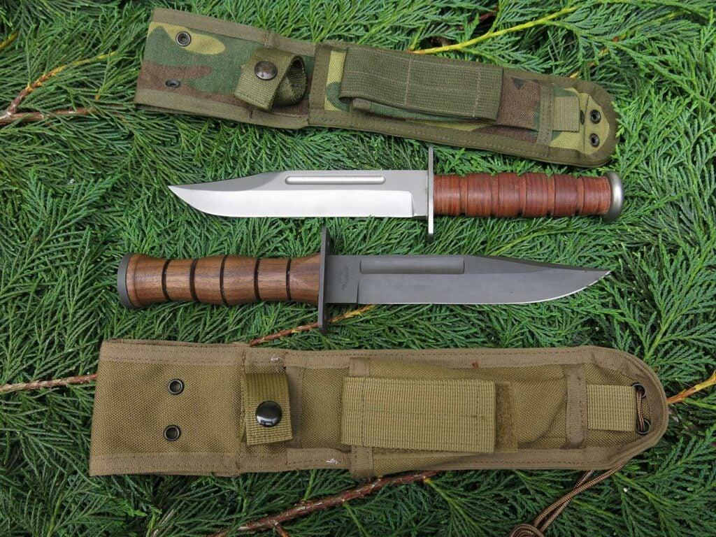 two custom don mount custom maker knives