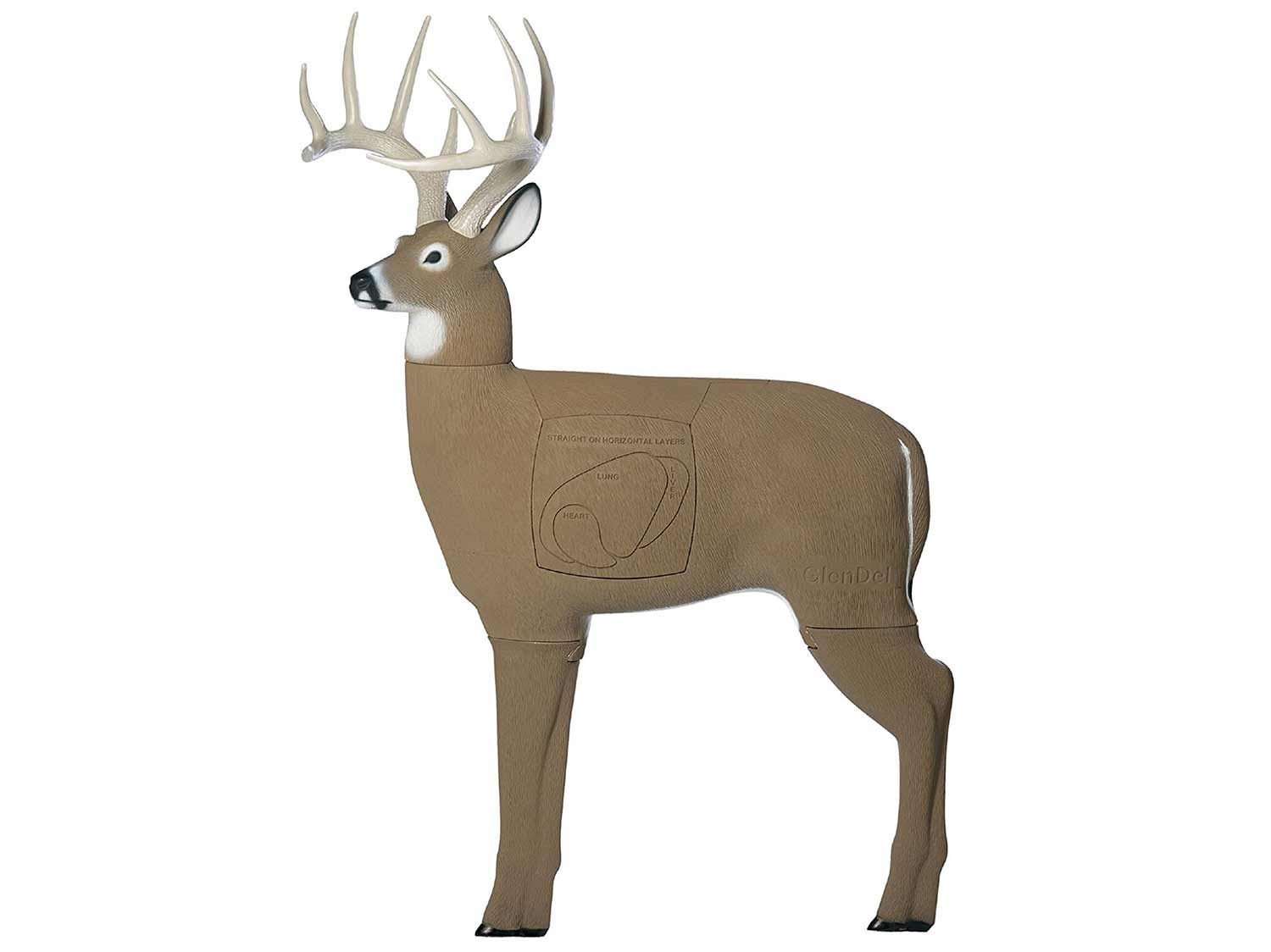 GlenDel Buck 3D Archery Target with Replaceable Insert Core
