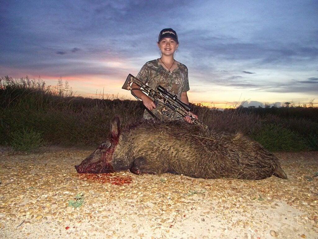 A successful hog hunt down in Missouri.