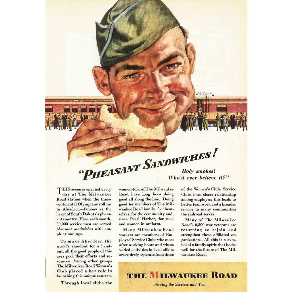 magazine article for pheasant sandwiches