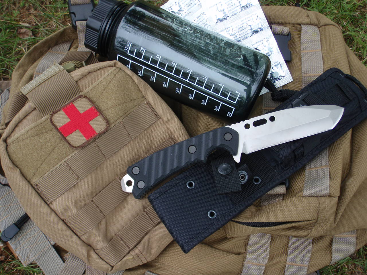 survival pack and gear