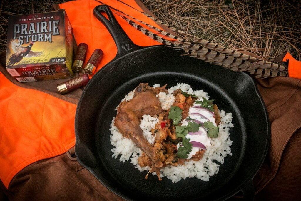 Curry pheasant recipe