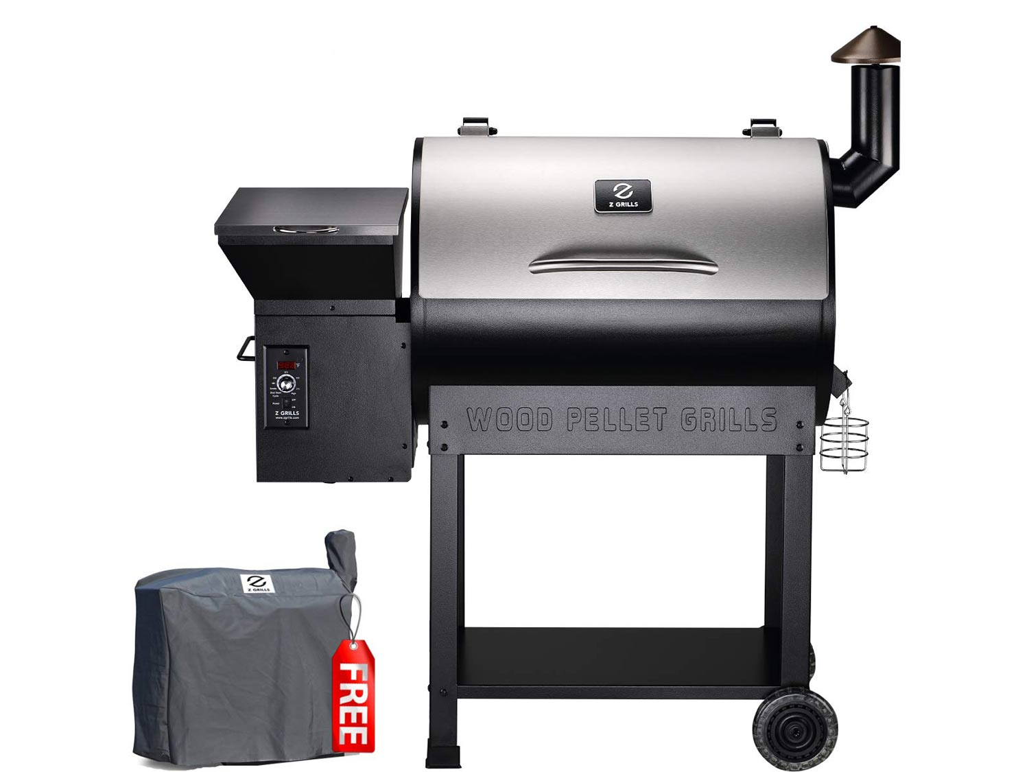 Z Grills 2020 Upgrade Wood Pellet Grill & Smoker, 8 in 1 BBQ Grill Auto Temperature Control, inch Cooking Area, 700 sq in Stainless