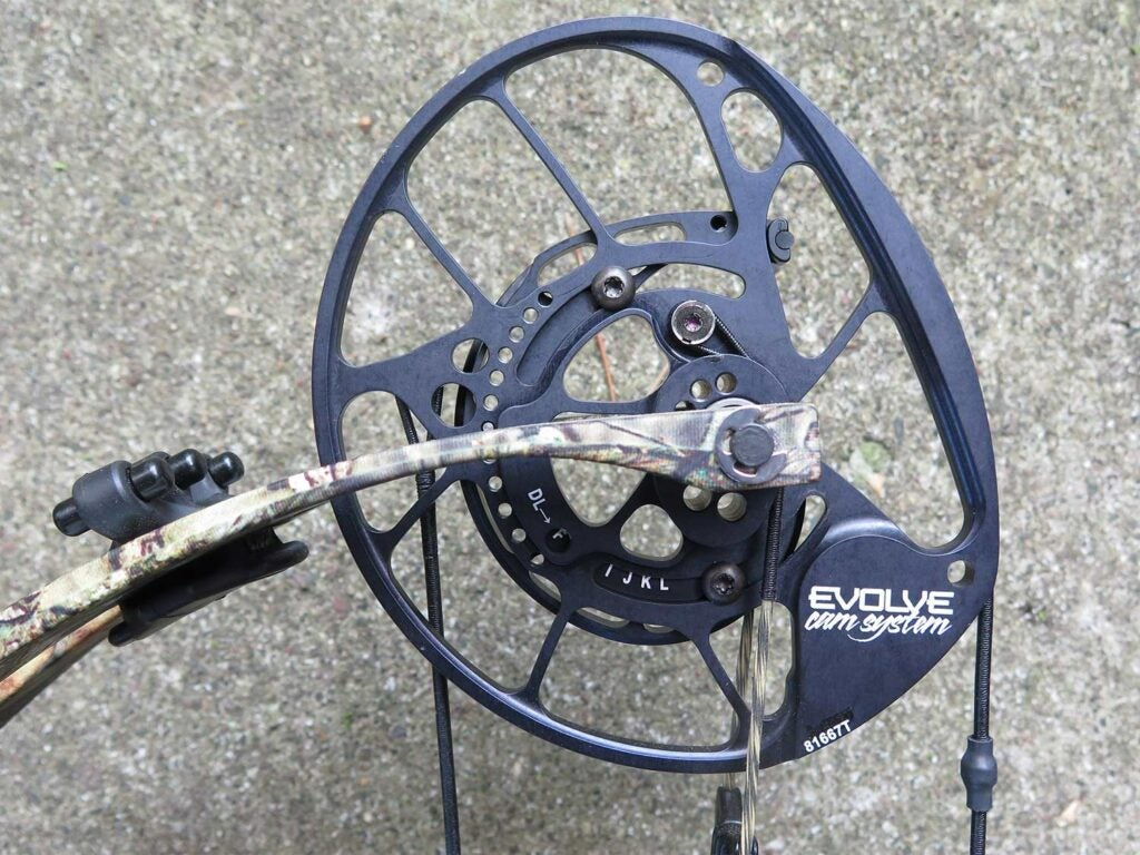 a compound bow with retaining cams