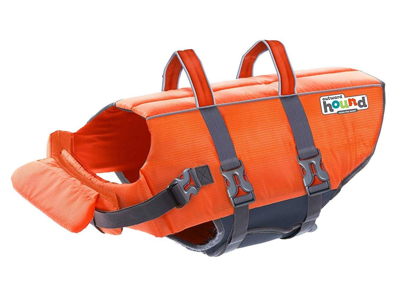 Outward Bound orange doggie lifevest