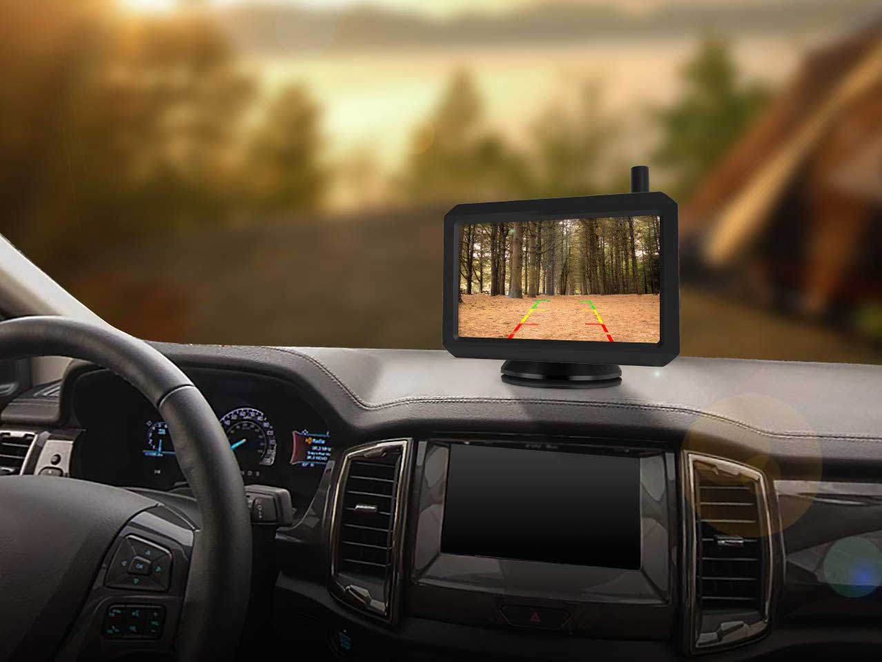 A backup camera's core function is to reassure you there's nothing behind you when backing up.