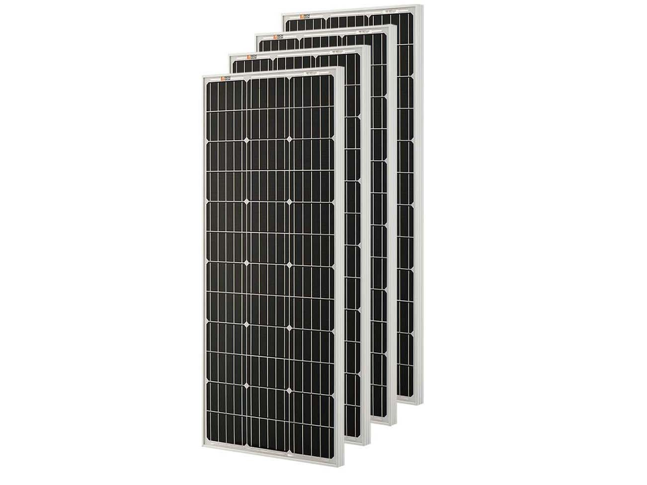 Richsolar 4pcs 100 Watt 12 Volt Monocrystalline