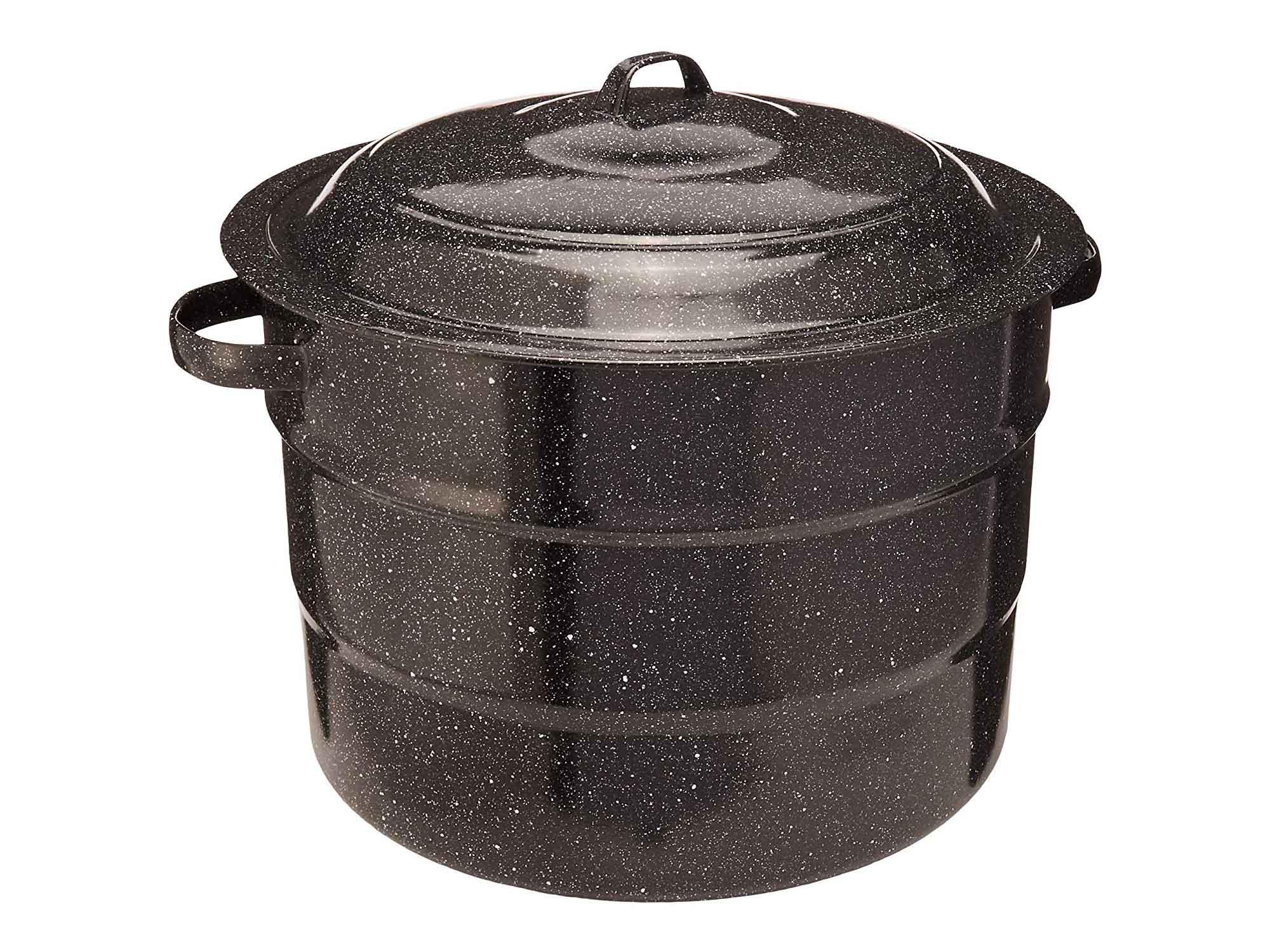 Black enamel canning pot