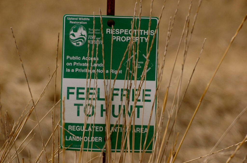sign that says feel free to hunt