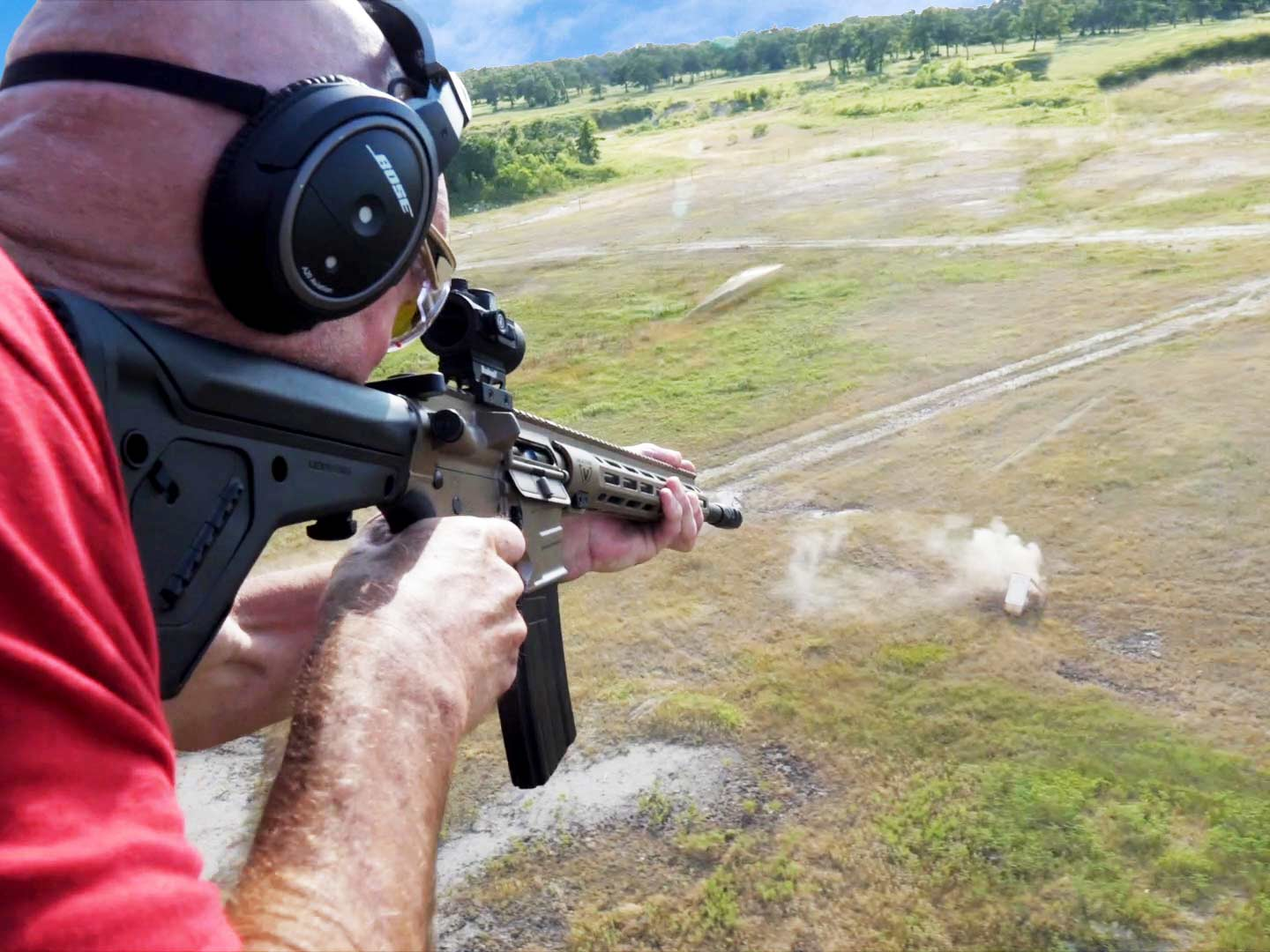 Shooting with a Negative Lead from a Chopper