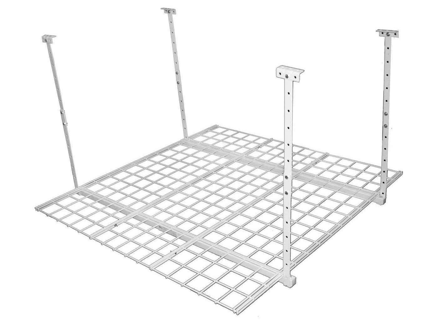 HyLoft 45-Inch by 45-Inch Overhead Storage System, Ceiling Mount Garage Organization Rack, White