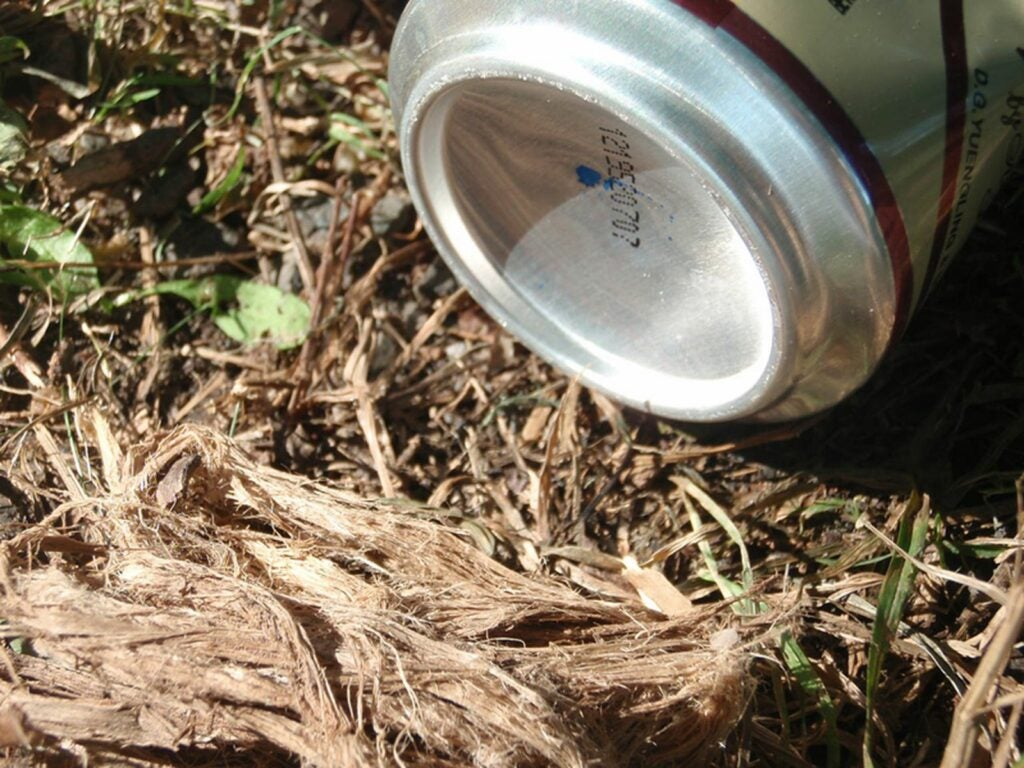 Use a the bottom of a beer can as a fire starter.