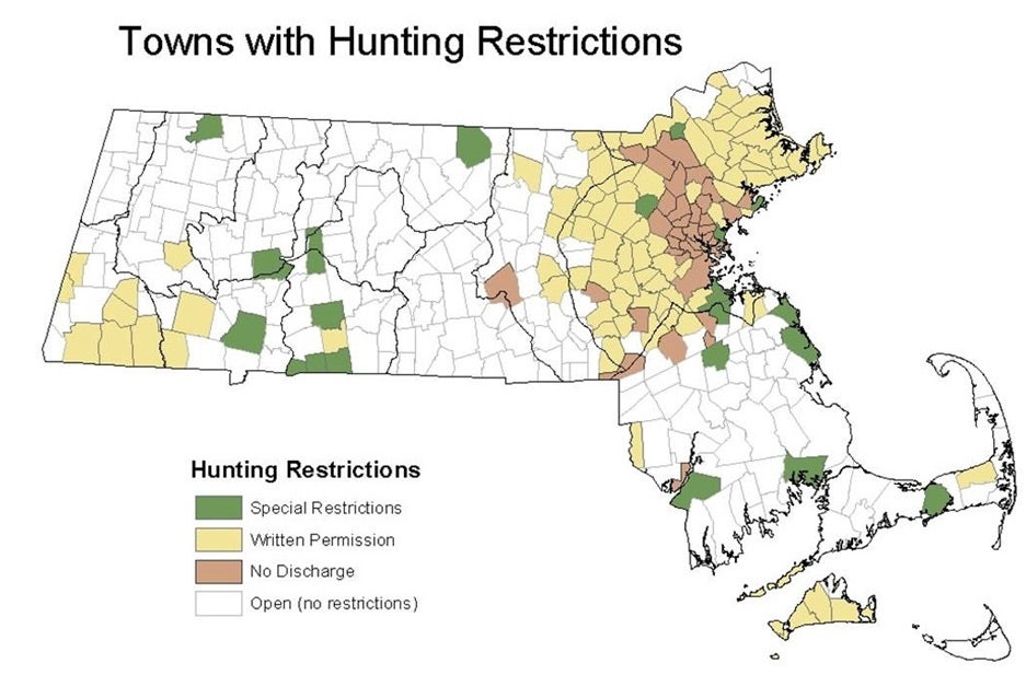 towns with restrictions on hunting infograph