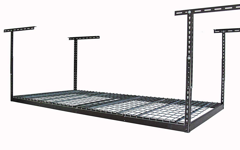 "MonsterRax 4x8 Overhead Garage Storage Rack (Hammertone, 24""-45"")"