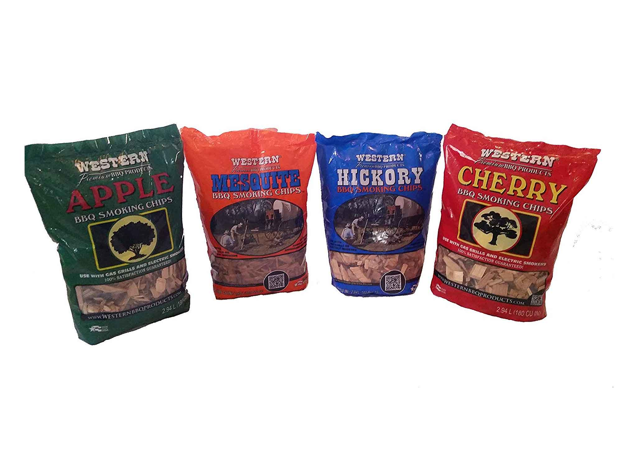 Western hickory and smoke chips