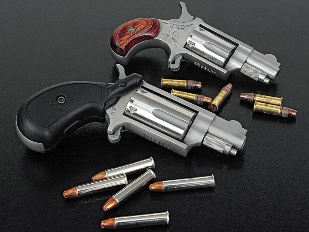 A pair of personal defense revolvers.