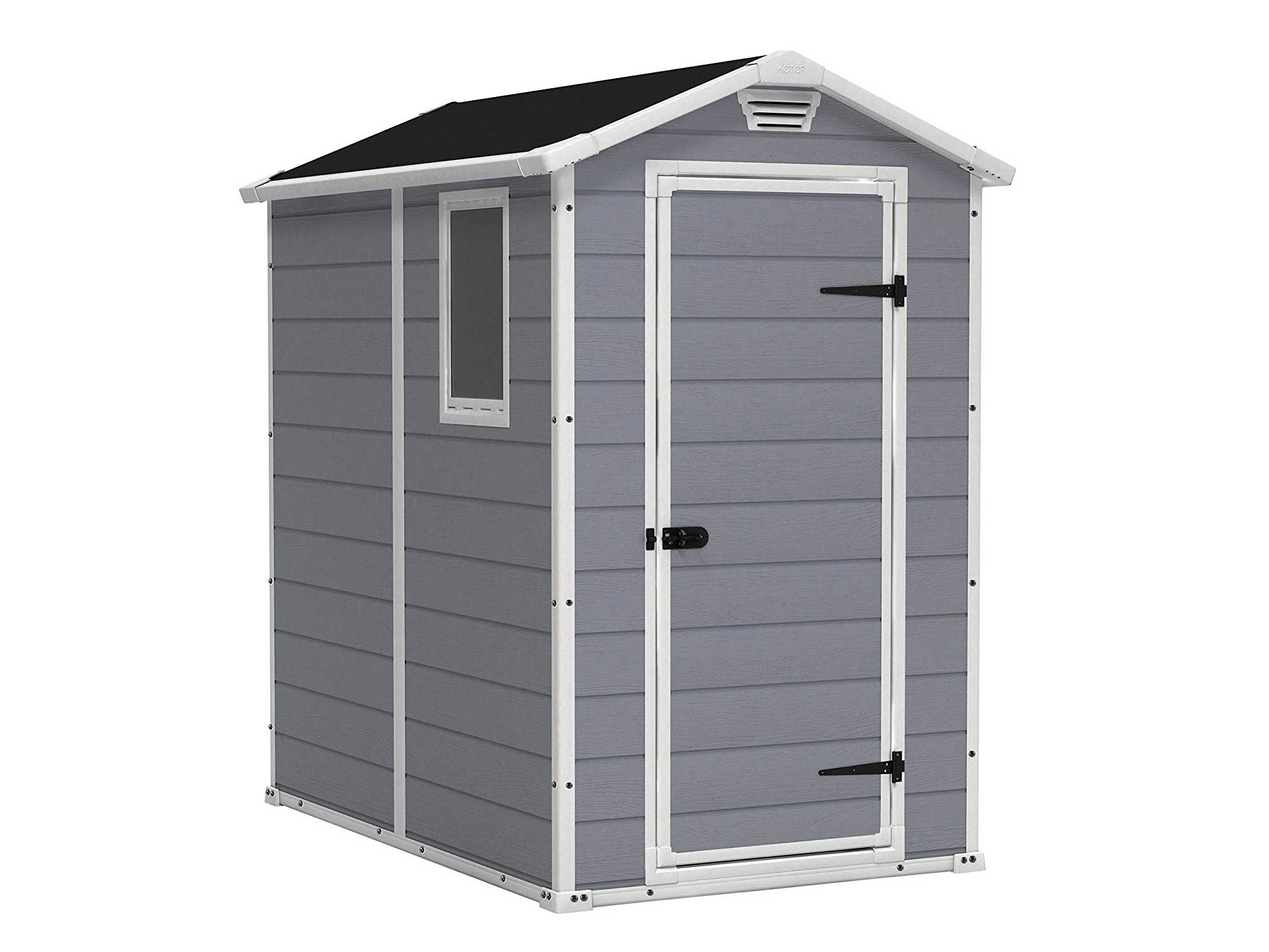Keter Manor gray outdoor shed