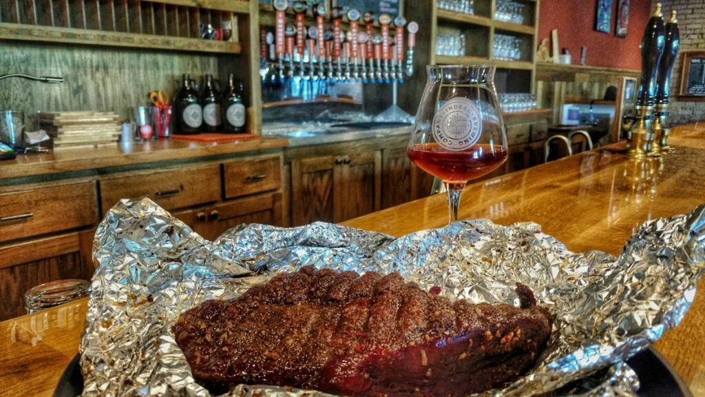 A bourbon-maple venison steak aged and cooked to perfection.