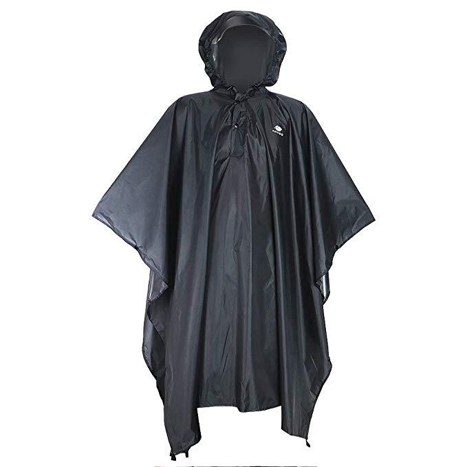 Anyoo Waterproof Rain Poncho Lightweight