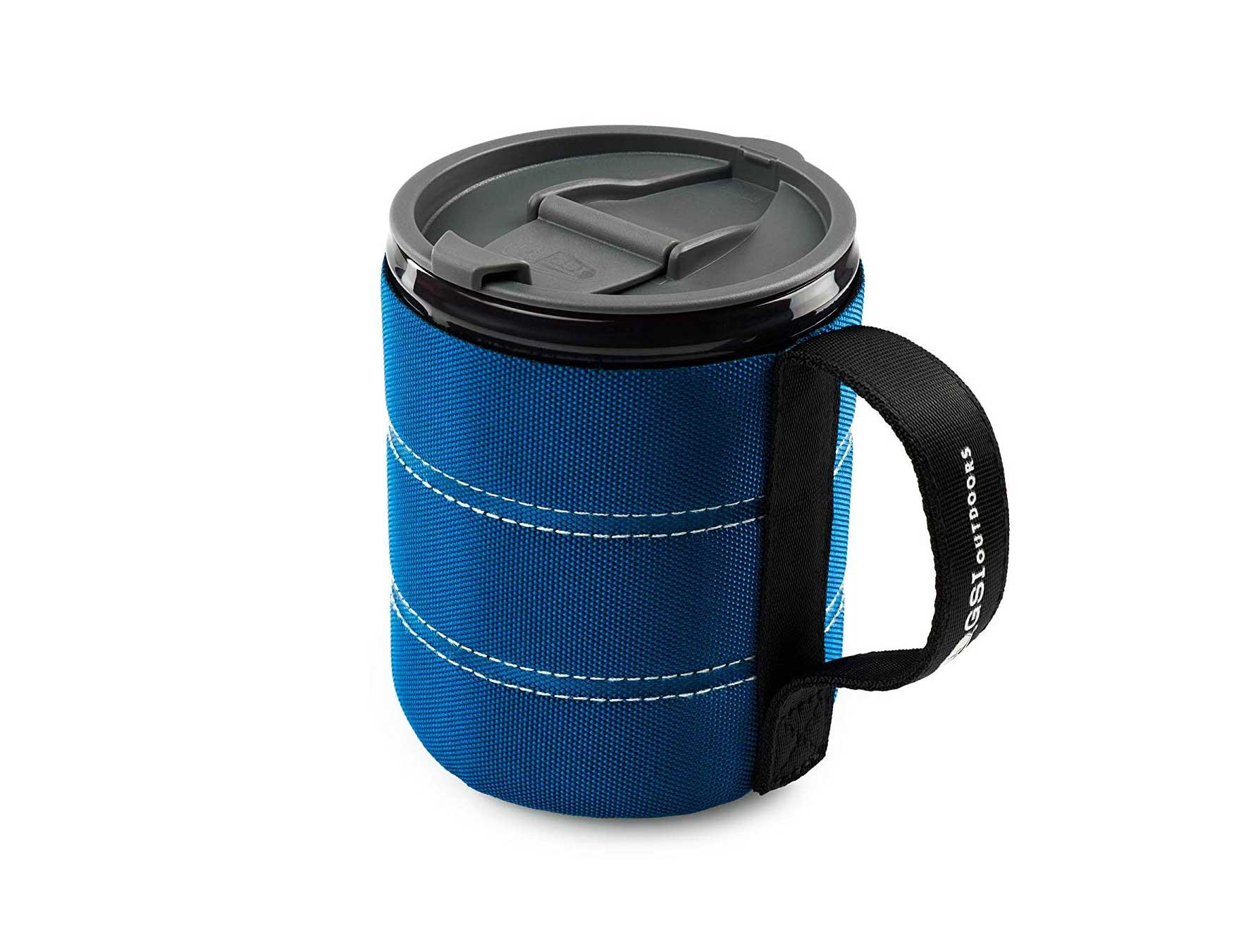 GSI blue insulated coffee mug