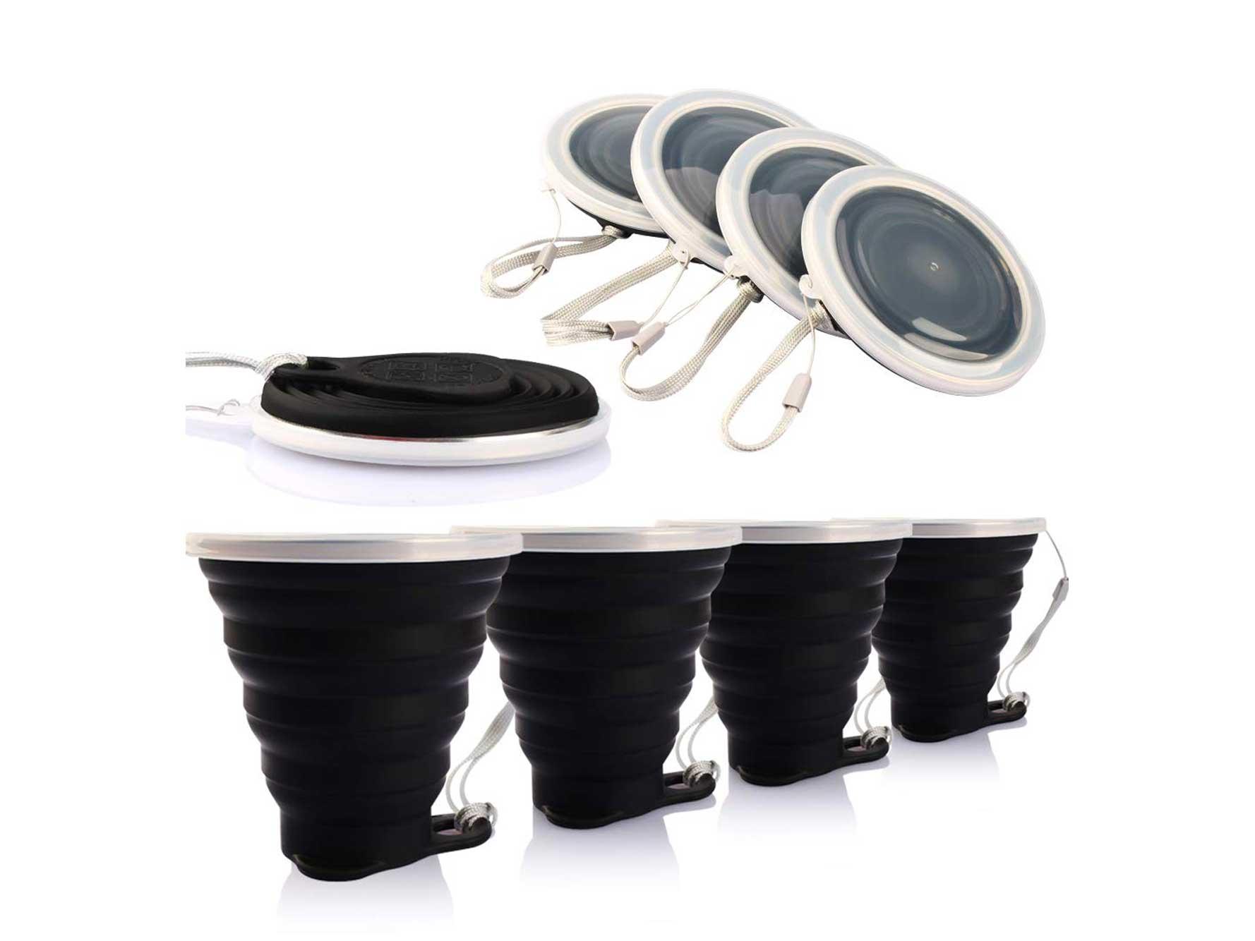 Silicone travel mugs