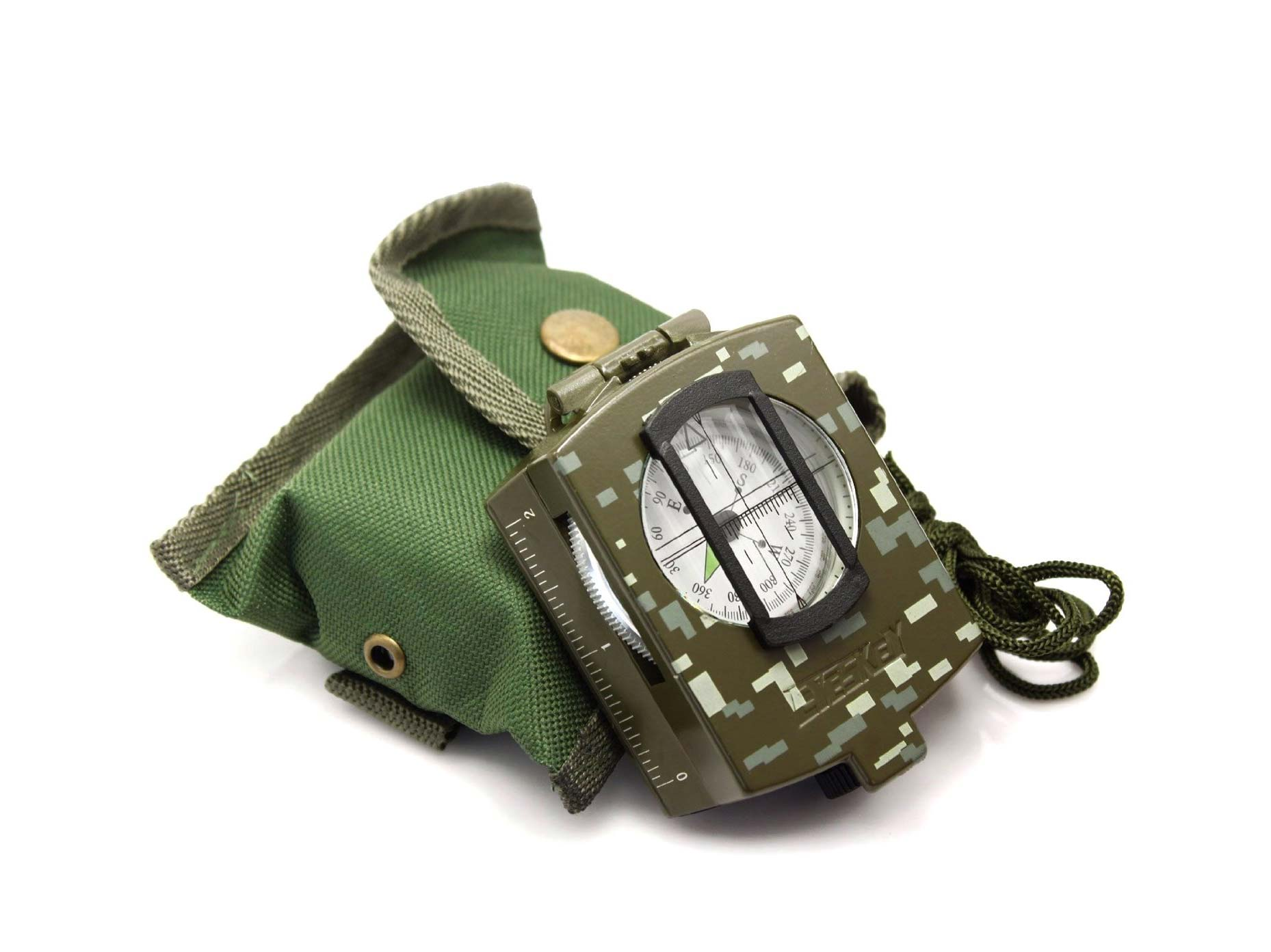 Army green compass