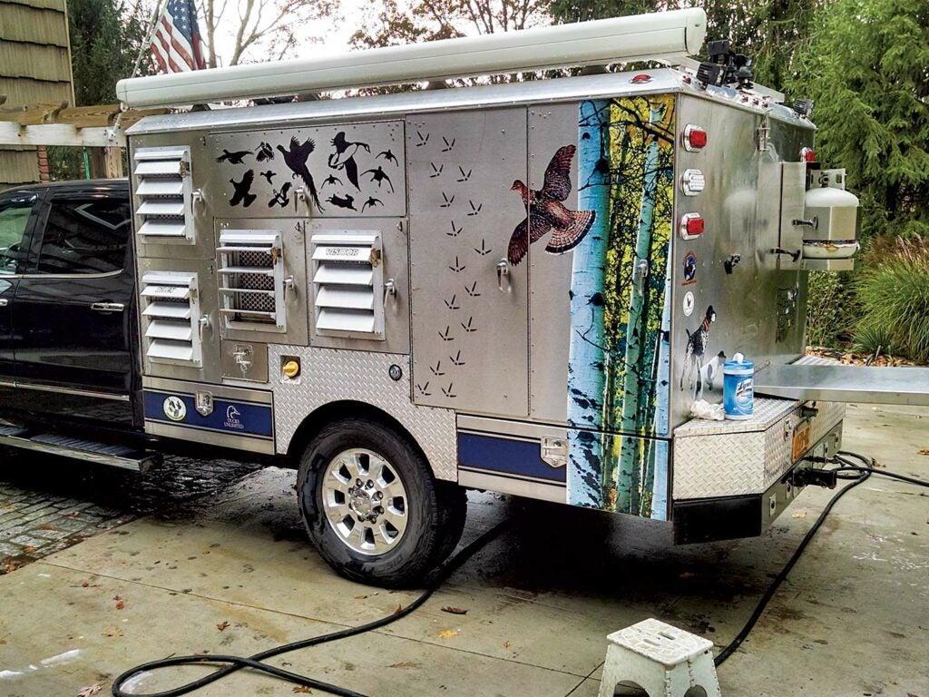 bird hunting trailer