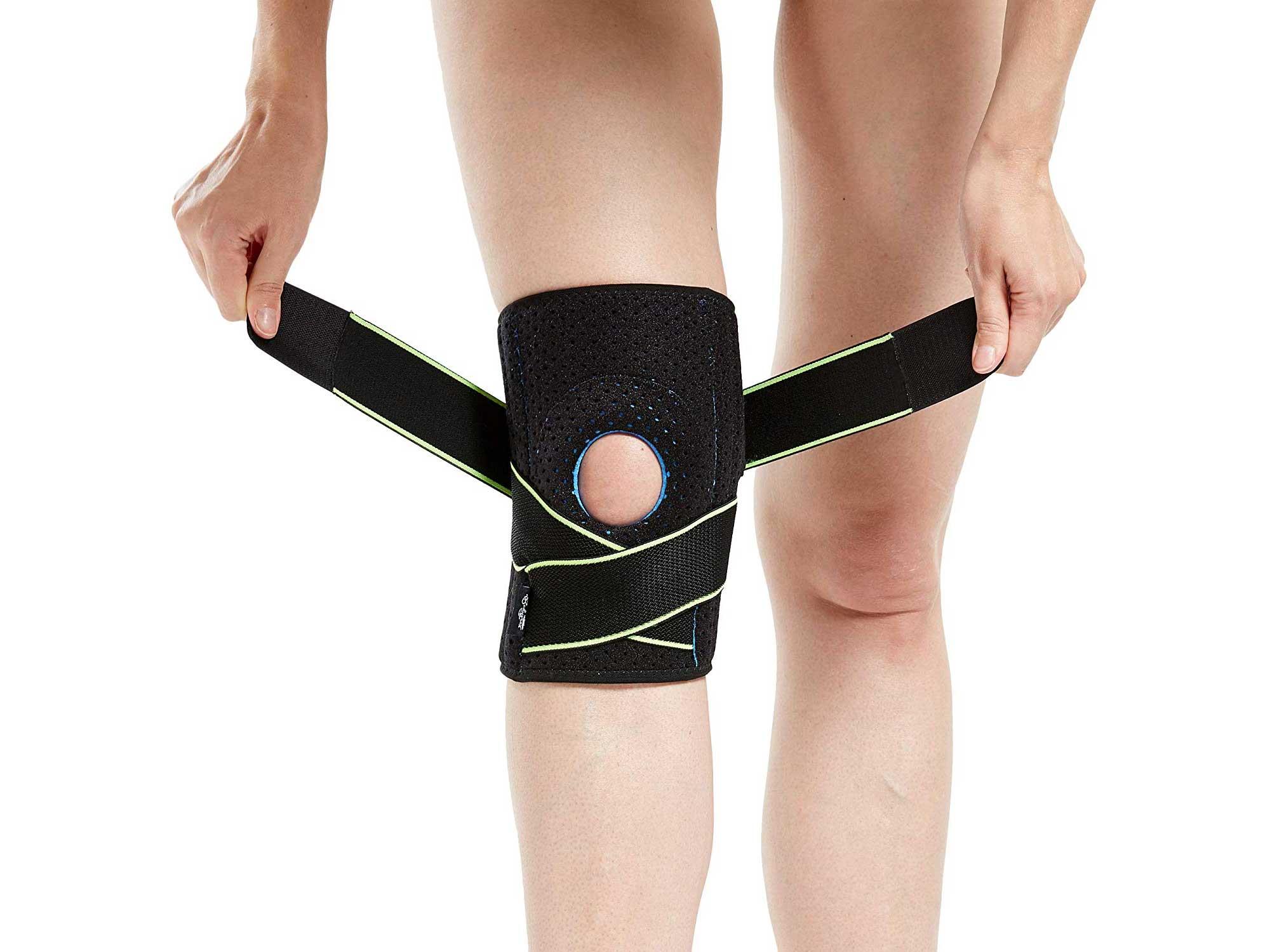 Woman wearing knee brace