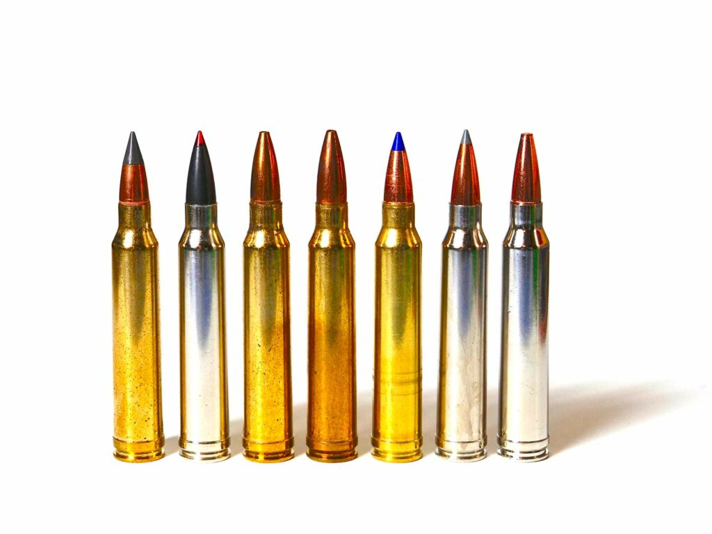 a lineup of 300 winchester magnum ammo