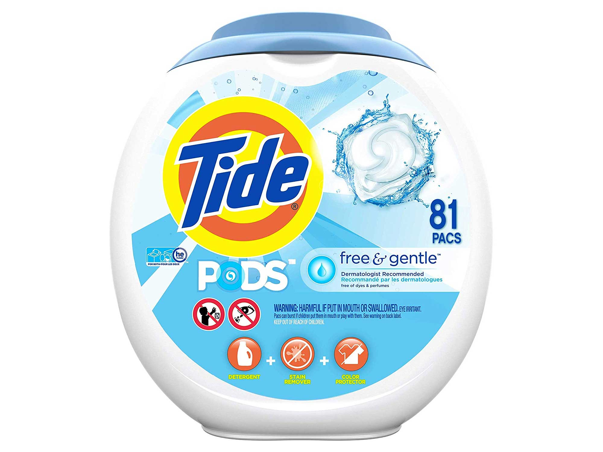 Tide free and gentle detergent
