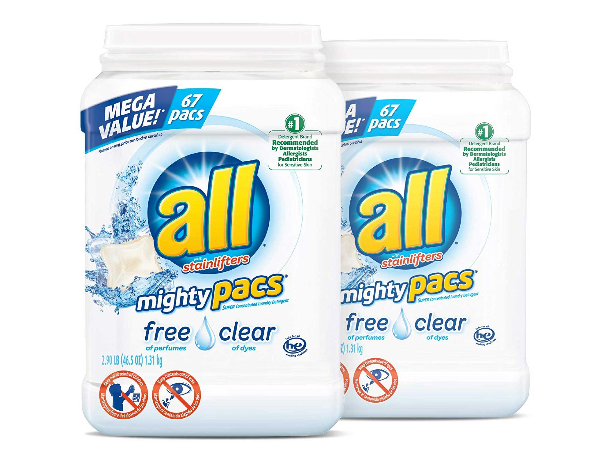 All perfume-free detergent