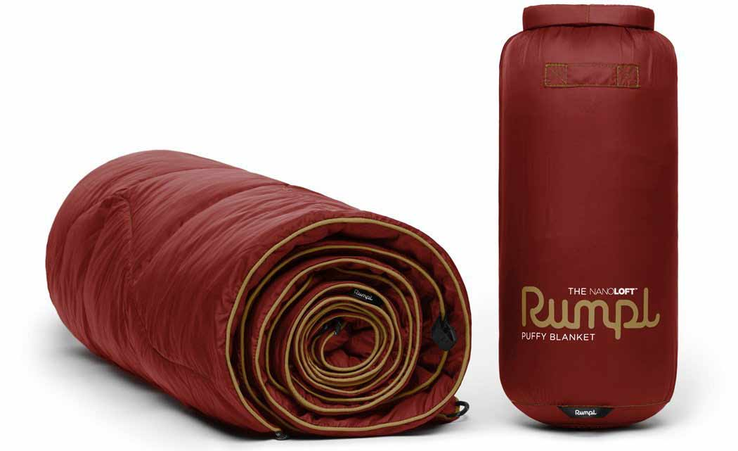 Rumpl's new synthetic down camping blanket