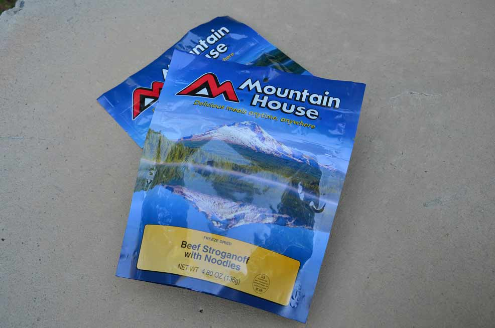 mountain house freeze dried food pouches