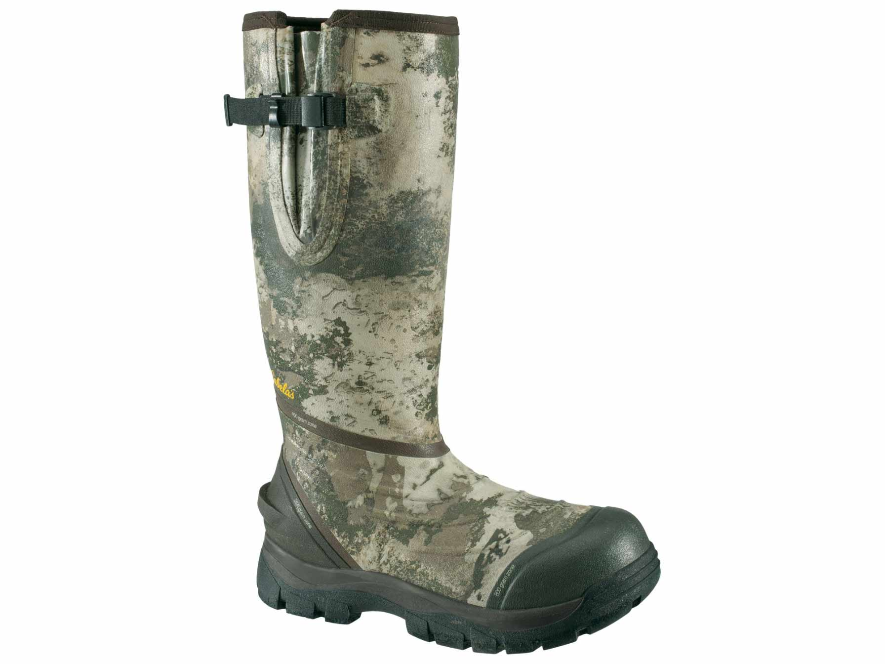 Cabela's Zoned Comfort Trac insulated rubber hunting boots