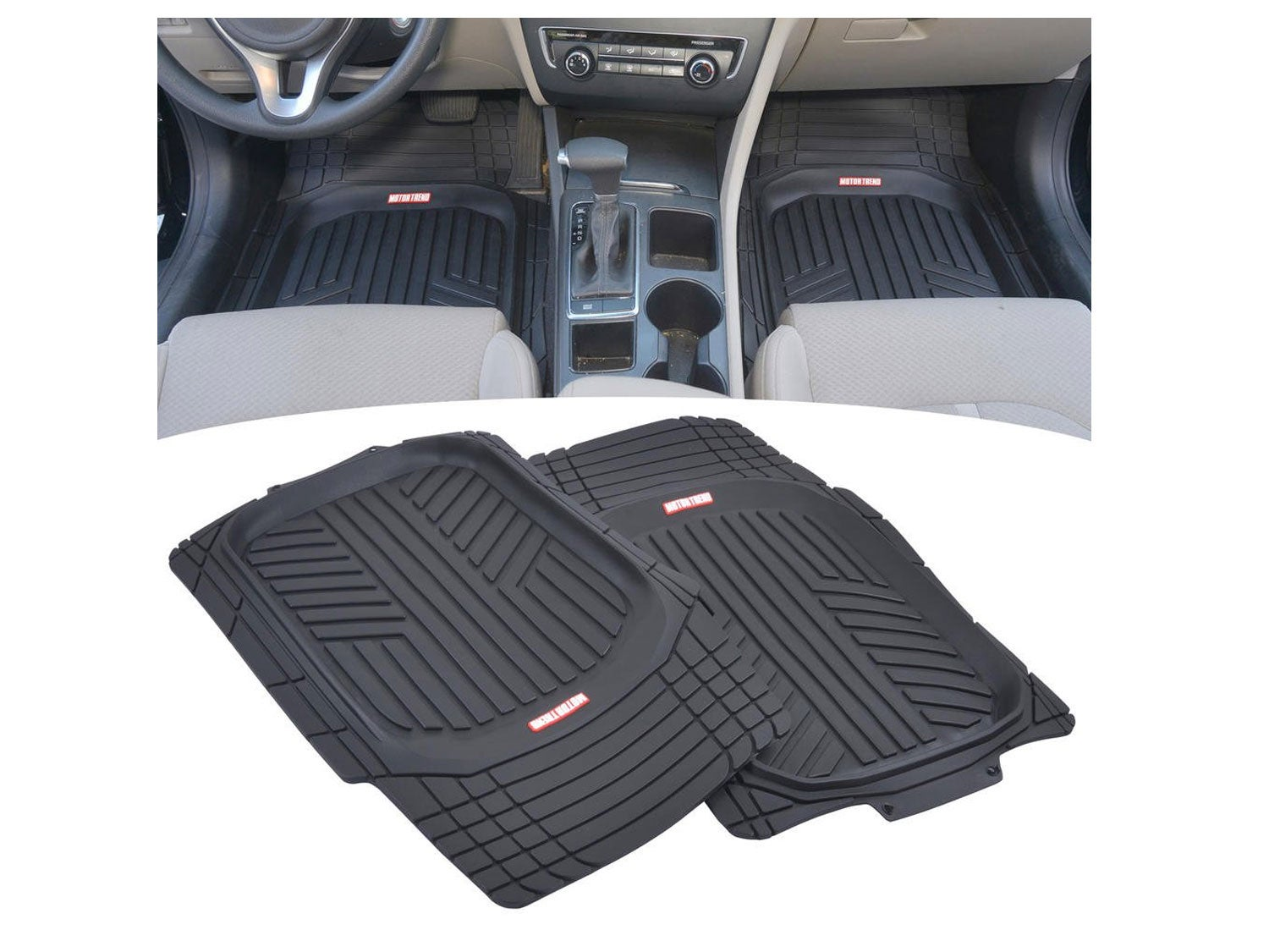 Motor Trend All-Climate All Weather Performance Rubber Floor Mats