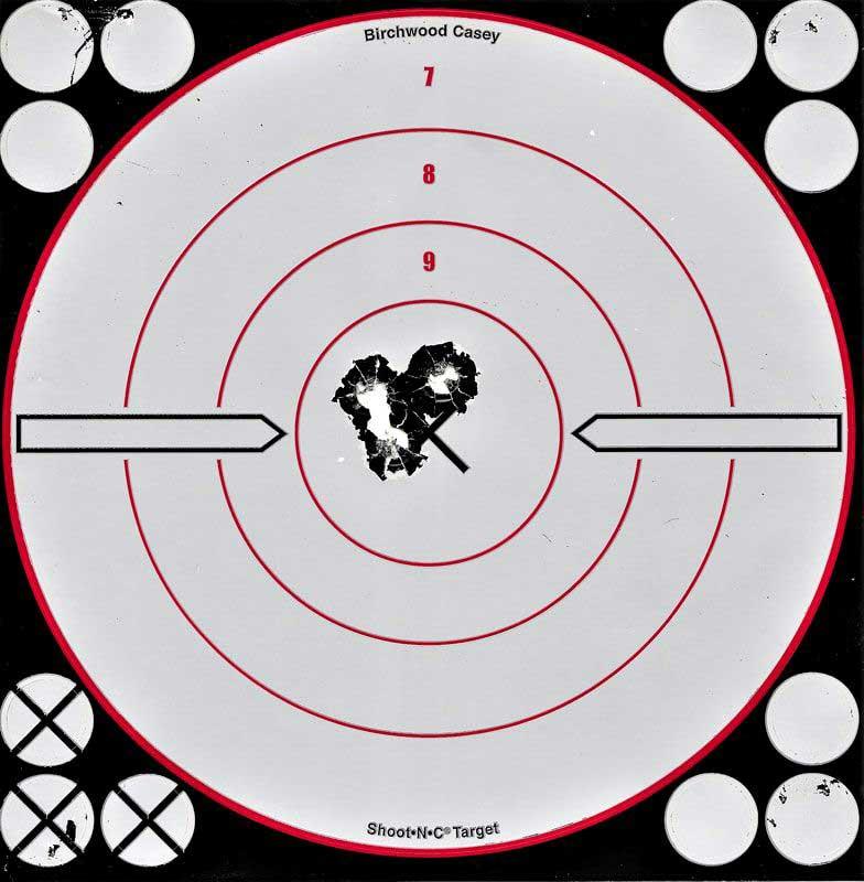 a shot group target