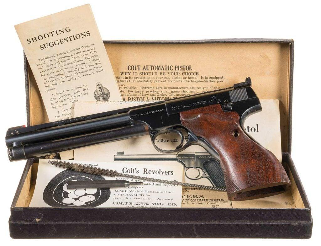 colt woodsman rimfire pistol