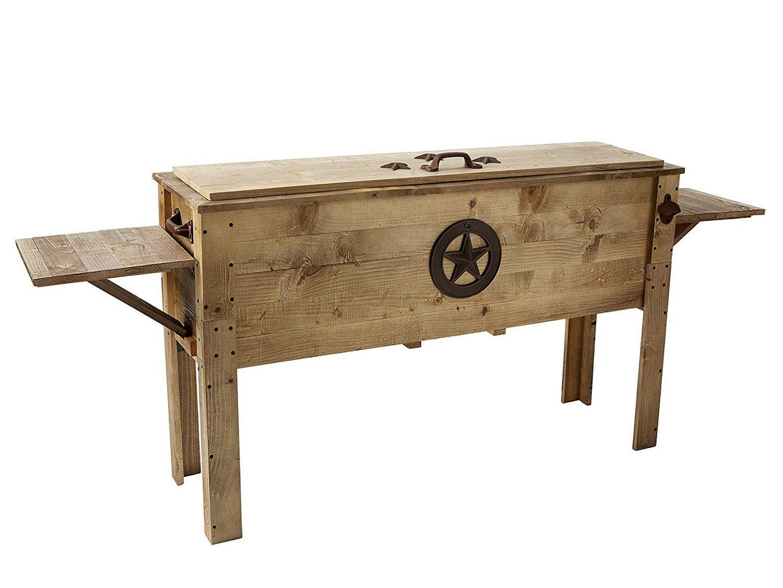 Decorative Outdoor Wooden Cooler