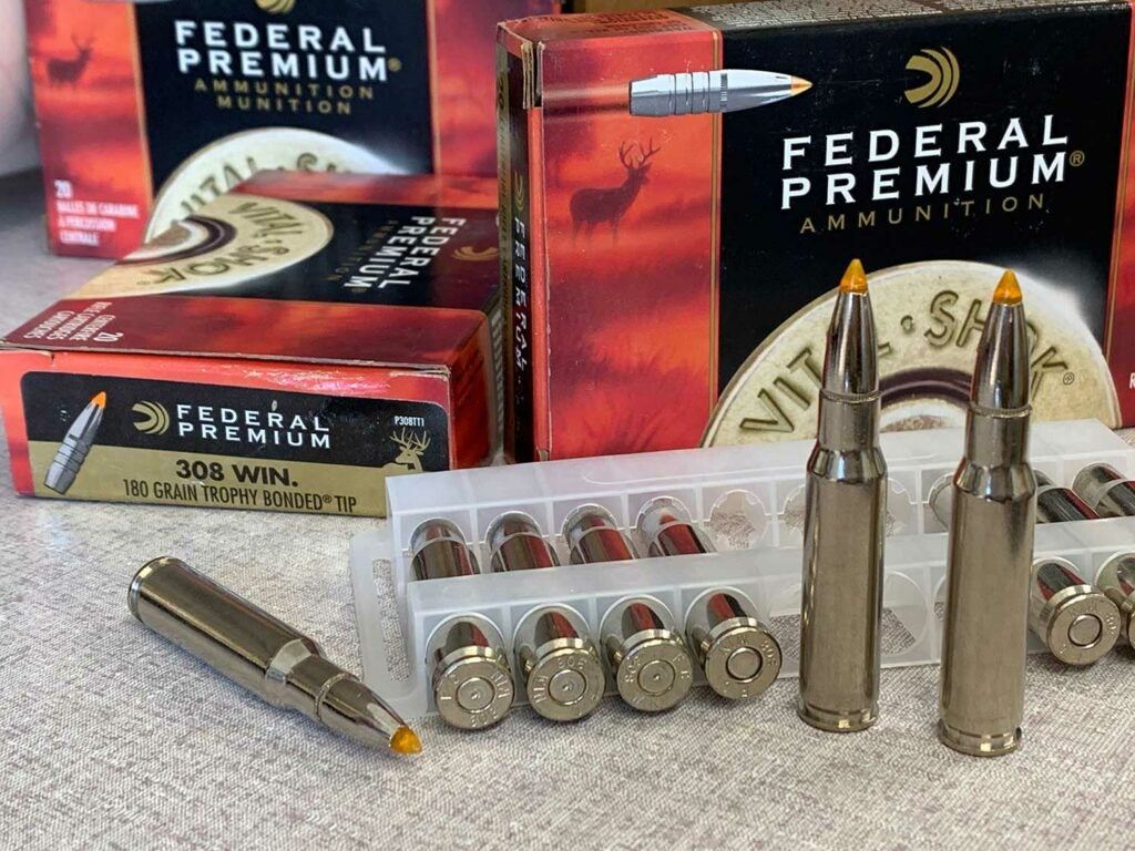 Federal Trophy Bonded Tip in .308 Winchester.
