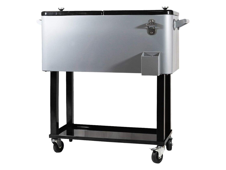 Clevr 80 Quart Qt Rolling Cooler Ice Chest Cart
