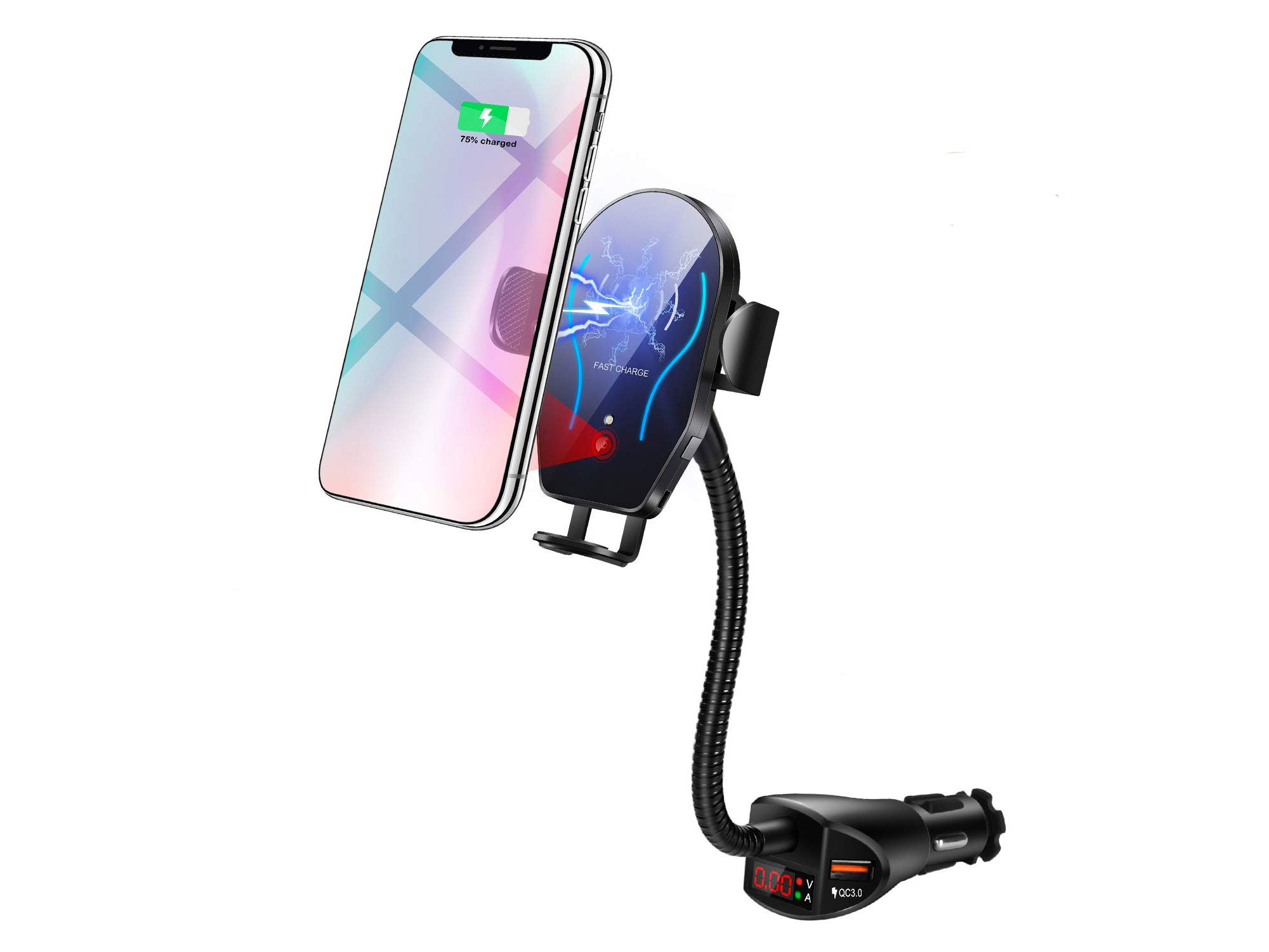 Flow month wireless car charger