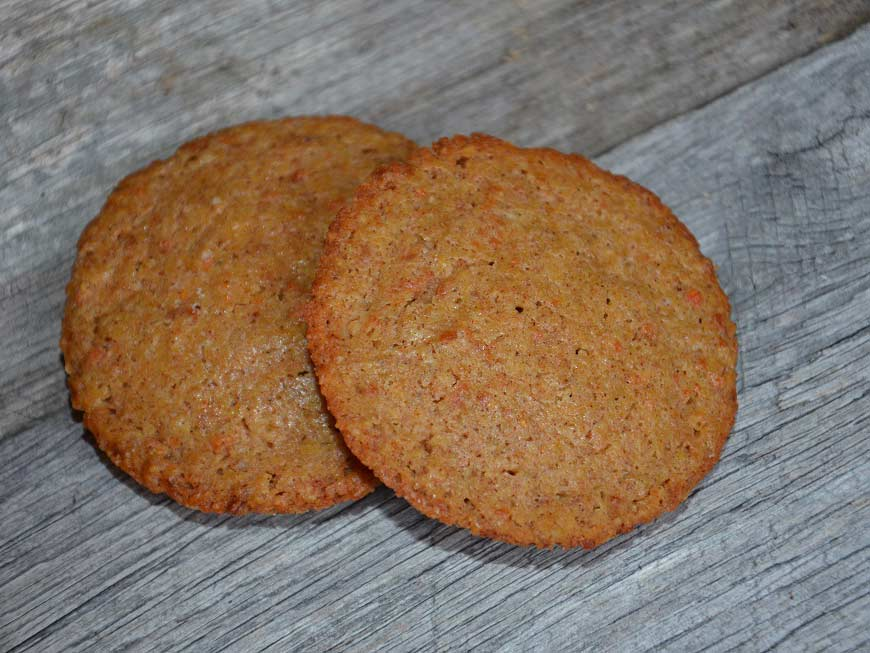 a cookie made of acorn flour