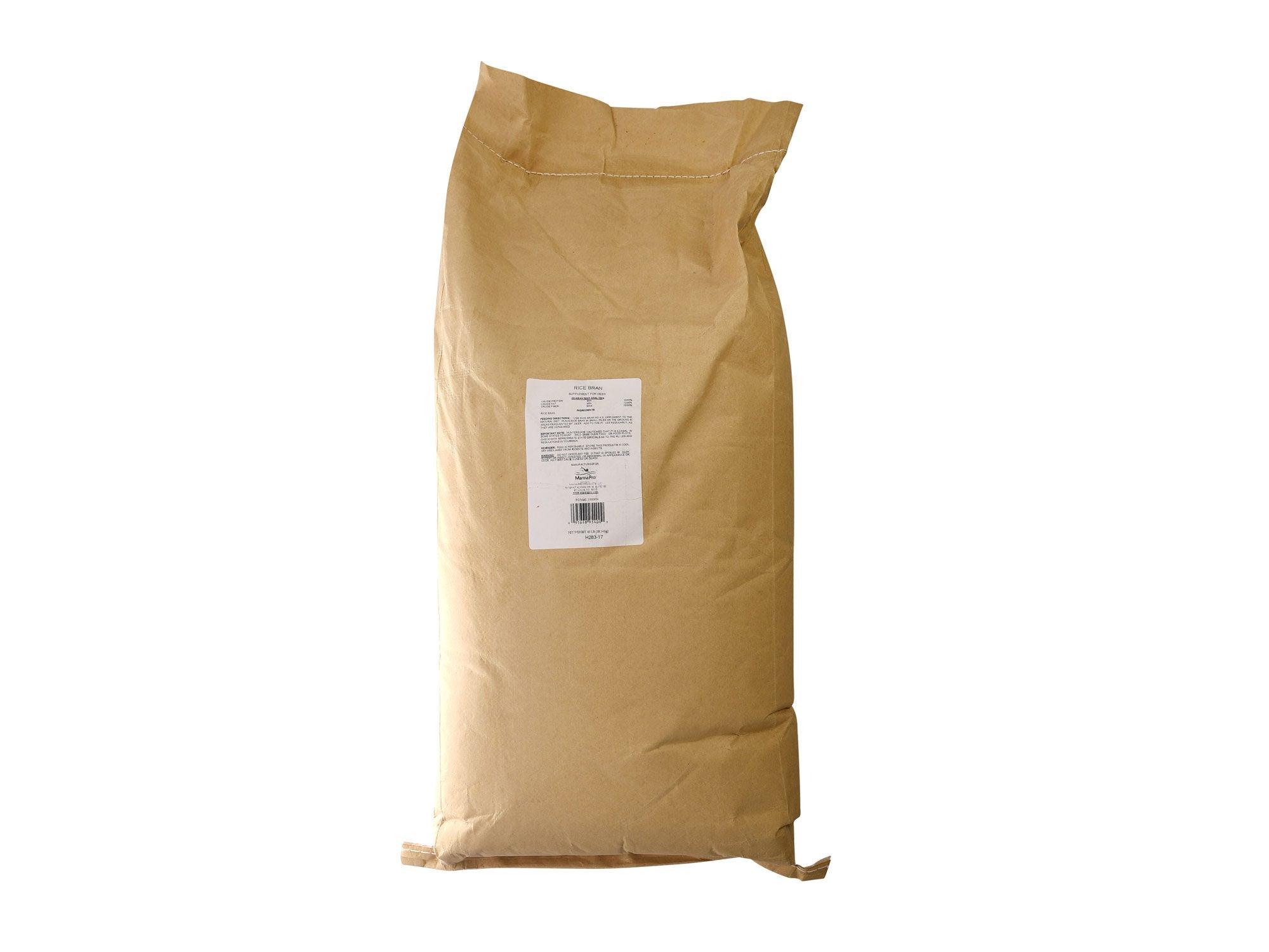 Rice bran deer supplement