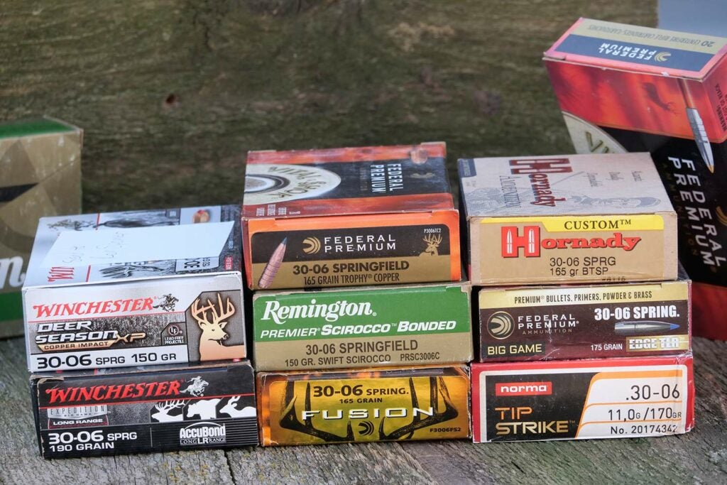 several boxes of rifle ammunition