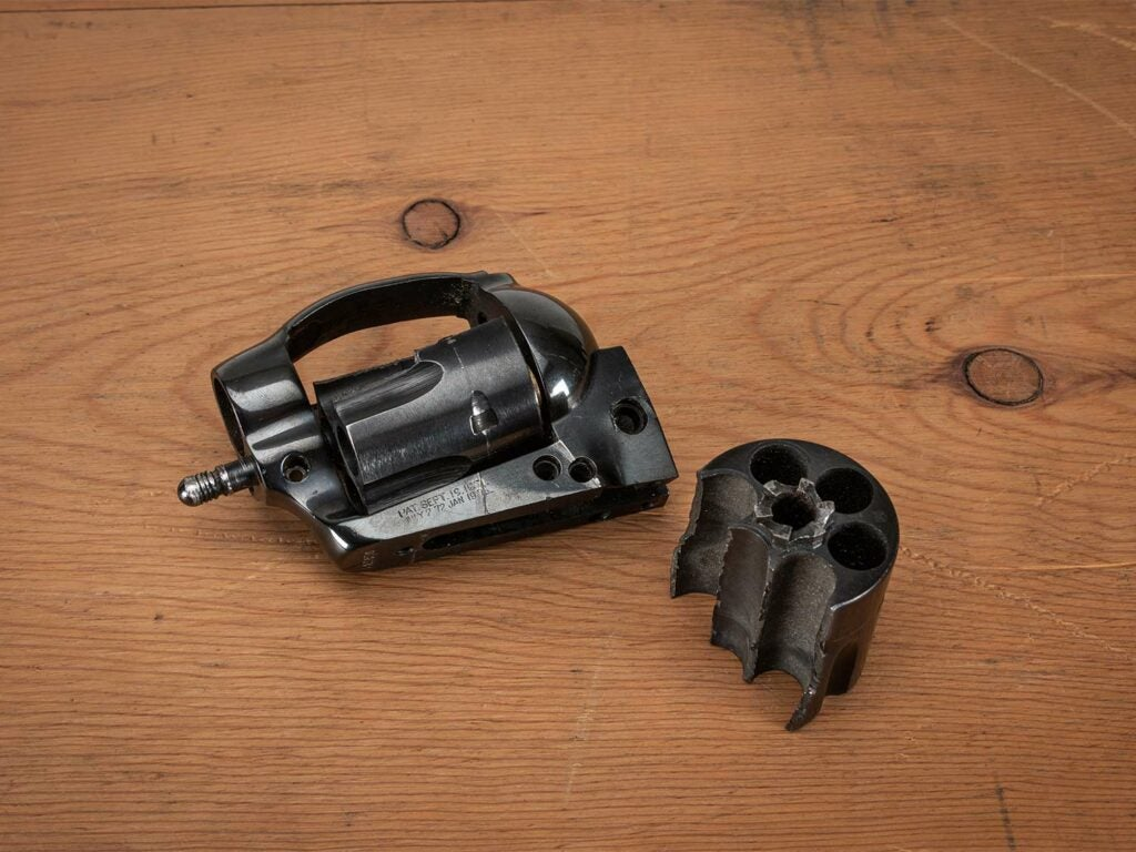 a blown out revolver