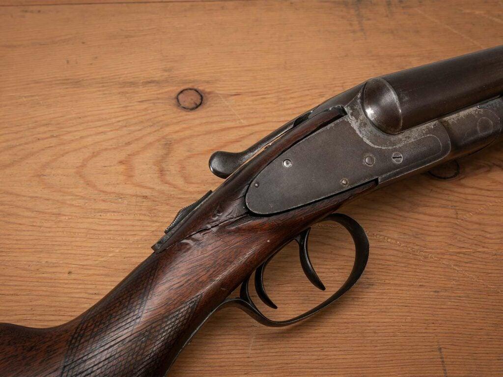 a wooden gun stock